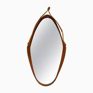 Vintage Italian Wooden Mirror, 1960s