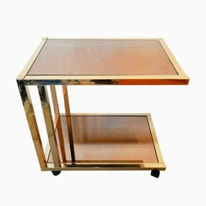 Vintage Chrome and Glass Trolley from Roche Bobois, 1970s