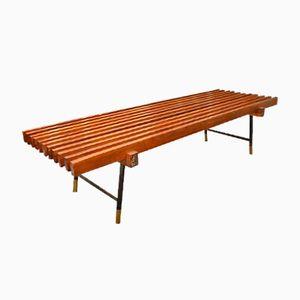 Mid-Century Italian Wood Bench by Ico Parisi, 1960s