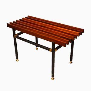 Mid-Century Italian Wood and Metal Bench, 1960s