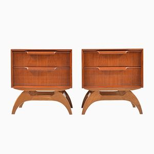 Danish Chests of Drawers in Teak and Oak, 1950s, Set of 2