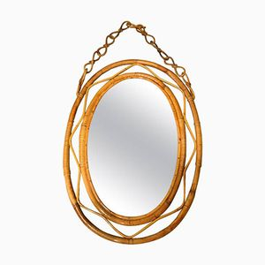 Wicker Hanging Mirror, 1960s