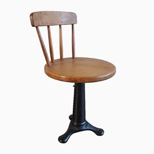 Stool with Backrest from Singer, 1930