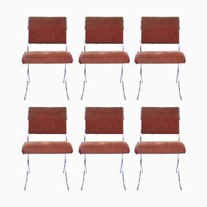 Mid-Century Esszimmerstühle von Maison Jansen, 6er Set