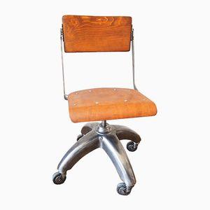 Chaise de Bureau avec Base en Aluminium, 1950