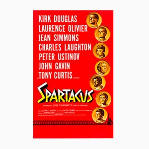 Vintage American Spartacus Roadshow Film Poster by Saul Bass & Reynold Brown, 1960