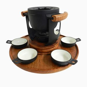 Vintage Rotating Fondue Set by Richard Nissen