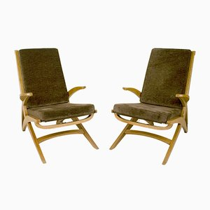 Armchairs by André Sornay, 1940s, Set of 2