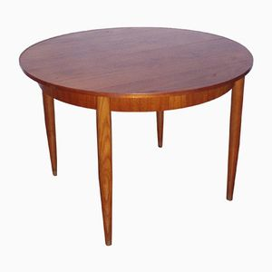 Teak Dining Table with Drop Leaf, 1960s