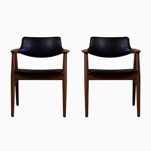 Vintage GM 11 Esszimmerstühle von Svend Age Eriksen für Glostrup, 2er Set