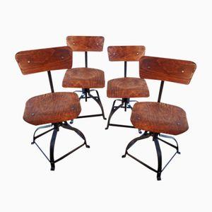 Chaises 204 de Bienaise, 1950, Set de 5