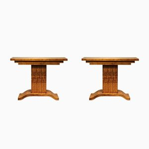 French Art Deco Console Tables, Set of 2