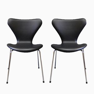 Modell 3107 Stühle von Arne Jacobsen für Fritz Hansen, 1967, 2er Set