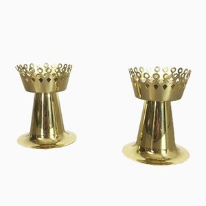 Nos Brass Candleholder by Hans-Agne Jakobsson, 1950s