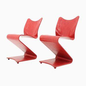 Chaises S 275 Rouges par Verner Panton, 1965, Set de 2
