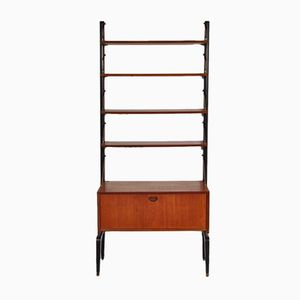 Mid-Century Free Standing Shelving System Cabinet, 1950s