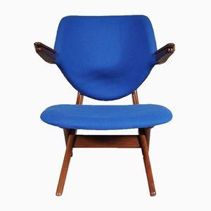 Blauer Pelican Sessel von Louis van Teeffelen für WéBé
