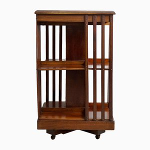 English Revolving Mahogany Bookstand, 1900s