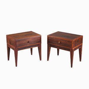 Brazilian Rosewood Side Tables by Henry Rosengren Hansen, 1960s, Set of 2
