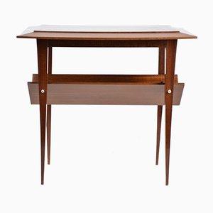 French Mahogany Side Table, 1950s