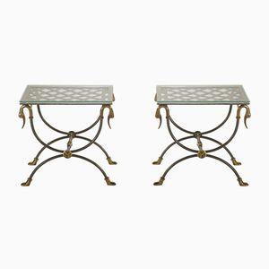Vintage Sofa Tische von Maison Jansen, 2er Set
