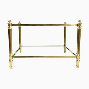 French Brass Two Tier Coffee Table, 1970s