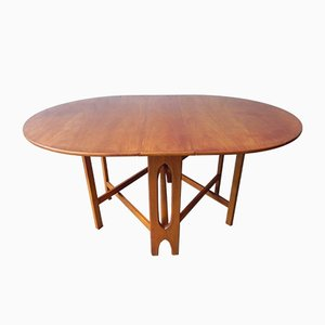 Danish Dining Table with Drop Leaf, 1970s