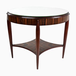 French Zebrawood Veneered Side Table, 1930s