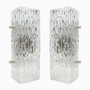 Vintage Austrian Glass Wall Lights by Kalmar, 1960s, Set of 2