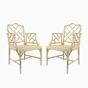 Vintage Stühle aus Künstlichem Bambus, 2er Set