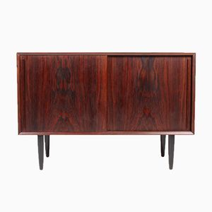 Mid-Century Rosewood Sideboard with Sliding Doors, 1950s