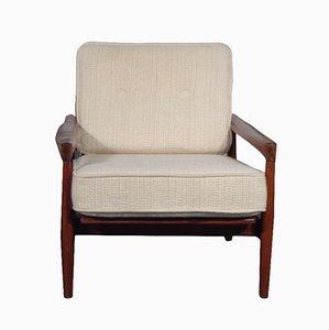Schwedischer Teakholz Lounge Stuhl von Erik Wörtz für Bröderna Andersson, 1960er