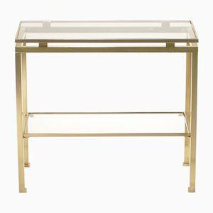 Polished Brass Side Table by Guy Lefevre for Maison Jansen, 1970s