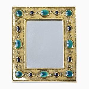 Mid-Century Spiegel mit Juwel Rahmen von Francois Lembo