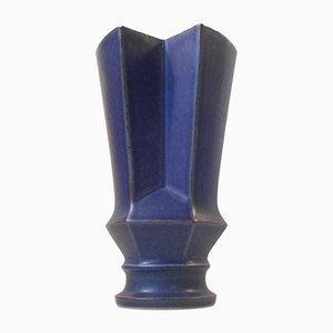 Vase Géométrique en Grès par Lisa Engqvist pour Bing & Grøndahl, Danemark, 1960s