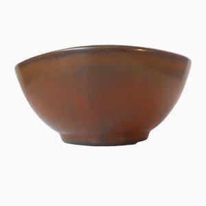 Solfatara Stoneware Bowl Model 5177 by Valdemar Petersen for Bing & Grøndah, 1950s