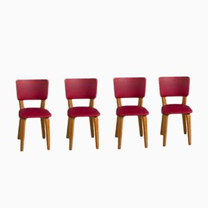 Multiplex Plywood Dining Chairs by Cor Alons for De Boer, 1949, Set of 4