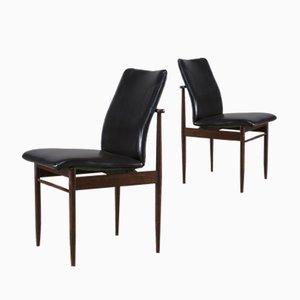 Palisander Esszimmerstühle von Fristho, 1960er, 2er Set