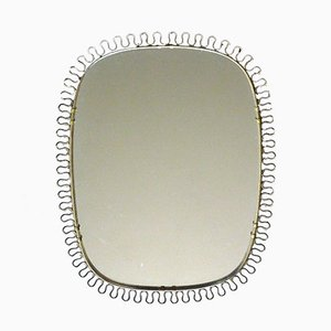 Sculptural Brass Wall Mirror by Josef Frank for Svenskt Tenn, 1950s