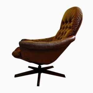 French Leather Club Chair, 1970s
