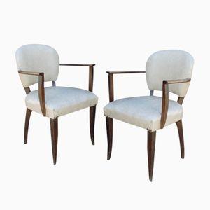 Französische Art Deco Stühle, 1930er, 2er Set