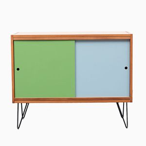 Ash Commode with Green and Blue Doors, 1960s