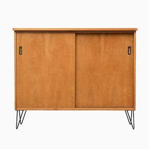 Elm Sideboard with Hairpin Legs, 1950s
