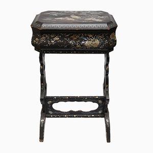 Boîte Antique Chinoiserie en Nacre Laquée