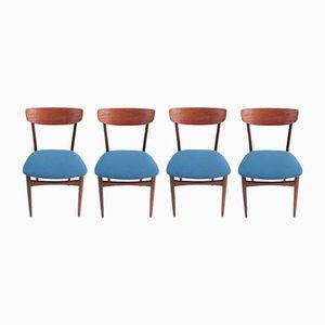 Mid-Century Teak and Rosewood Dining Chairs, Set of 4