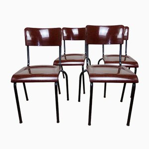 Metal & Bakelite Chairs by René Herbst, 1940s, Set of 4