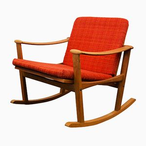 Mid-Century Oak Rocking Chair by Finn Juhl for M. Nissen