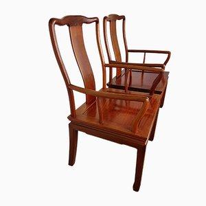 Chaises de Bureau Vintage en Palissandre, Set de 2