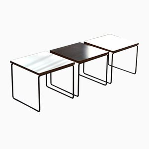 Volante Tables by Pierre Guariche for Steiner, 1960s, Set of 3
