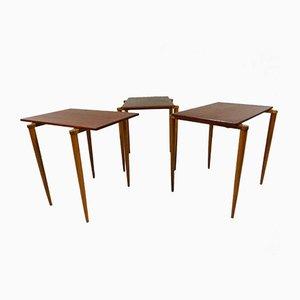 Tables Gigognes de Opal, 1950s, Set de 3